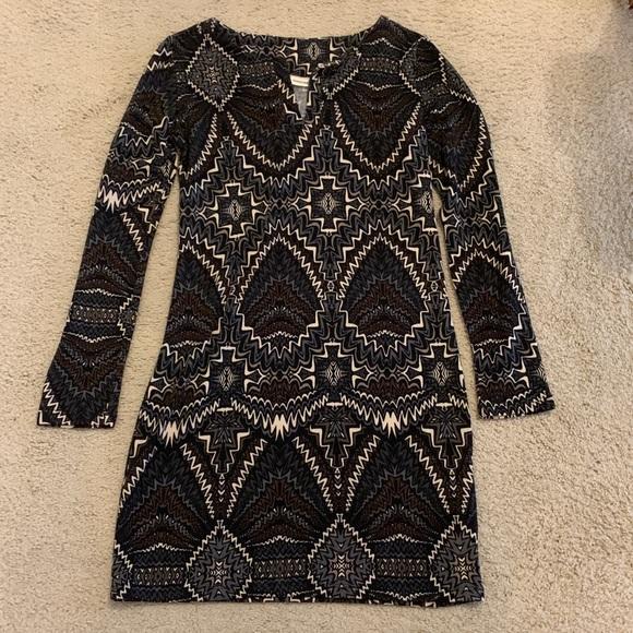 Adrienne Long Sleeve Pattern Dress